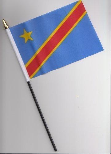 Congo République populaire Drapeau à main 25 cm