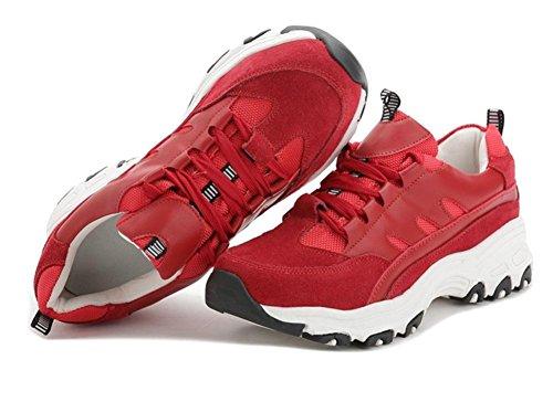 Scarpe sportive donna pizzo scarpe casual scarpe da corsa ascensore Autunno Ms. Red