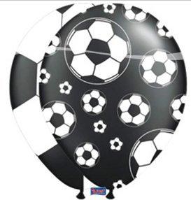 Preisvergleich Produktbild 8 Luftballons Ballons Fußball farblich sortiert