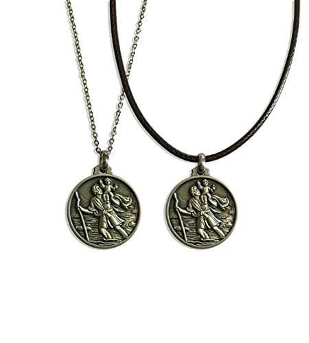 Medaglia di San Cristoforo vista nella serie Netflix DARK - collana religiosa - moneta - ciondolo - Patrono - Santo - Protettore dei viaggiatori