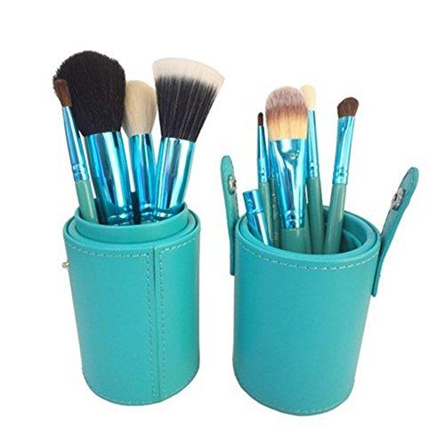 Zunhong 12pcs Pinceaux Cosmétiques Trousse à Maquillage Professionnel Set de Trousse, Bleu