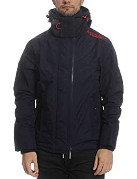 Superdry Übergangsjacke Men TECH HOOD POP ZIP WINDCHEATER Nautical Navy Rebel Red