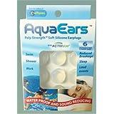 AquaEars Adults 6 Pair Soft Silicone Ear Plugs, Aqua Ears, for sleep, study, Loud noise, Meditation, Sound Reducing, swim, wa