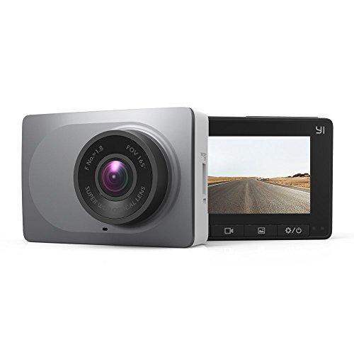 YI Dashcam C10 Full HD 1080p mit Nachtsicht, WLAN und Bluetooth, Dash Camera Auto Kamera mit 2.7 Zoll Display, 6.68 cm Bildschirm, Auto Zubehör App kompatibel mit iOS und Android (z.B. Samsung, Apple, Huawei) – Grau (Auto-ladegerät Ios 8)
