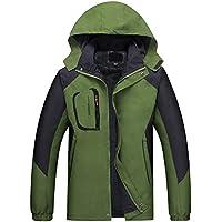 Hzjundasi Snowboard Sport impermeable traje de esquí más grueso hombres invierno cálido escalada senderismo abrigos (verde, XL)