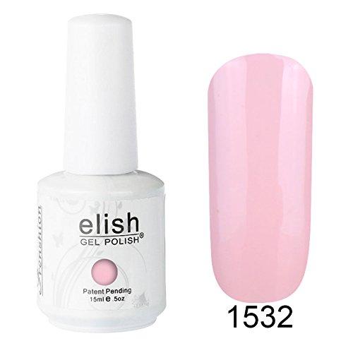 Frenshion 15ml Auflösbarer Nagellack Shellac UV Led Nagellack Farbgel 1532