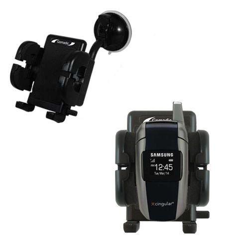 Cradle-Windschutzscheibenhalterung für das Samsung SGH-X506 X507 - Flexibler Schwanenhalshalter mit Saugbefestigung für KFZ / Auto. Lebenslange Garantie