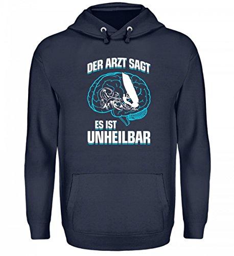 shirt-o-magic Surfen: es ist unheilbar - Geschenk Wind-Surfer-In Wind-Surfen - Unisex Kapuzenpullover Hoodie