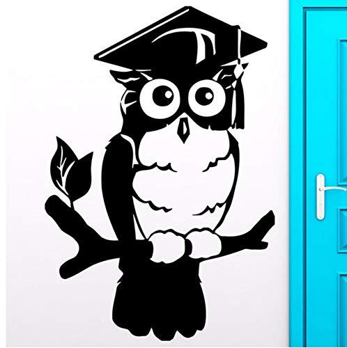 Lvabc 42X61 Cm Eule Vögel Wandtattoos Für Schlafzimmer Smart Wise College Graduation Wandaufkleber Für Wohnzimmer ()