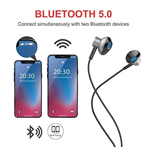 Auricolari Bluetooth V5.0 Magnetico Cuffie Auricolari Bluetooth con  Microfono Stereo HIFI 99329635025f