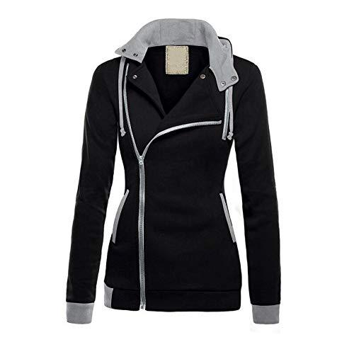 (CY'S Winterkleidung samt schrägen Reißverschluss Kleiderschrank Farbe Kapuzen-Kleiderschrank)