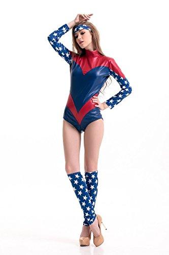 DLucc Adult Halloween-Kostüm Weiblich Avengers Captain America Spiderman -Anzug Cosplay Frauen-Kriegers , (Ninja Eine Kostüm Weibliche)