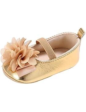 igemy bebé niño niños niña suave Sole Cuna zapatos de bebé recién nacido (6~ 12meses, oro)