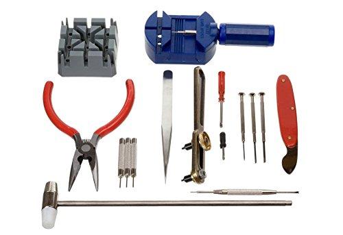 Revesun uhrenwerkzeugset 16-teilig uhrwerkzeug uhrmacherwerkzeug für jedermann gehäuseöffner