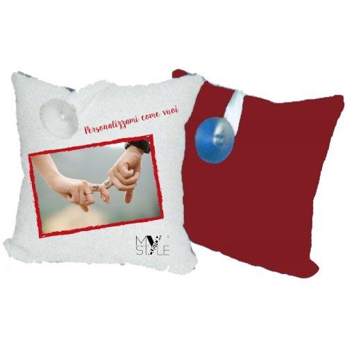My custom style mini cuscino preconfezionato, personalizzato, 20x20 rosso