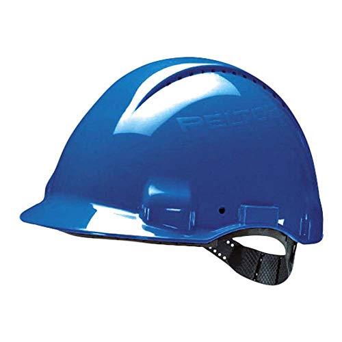 3M Peltor G30CUB Schutzhelm G3000C, ABS, Helm Innenausstattung mit Kunststoff SchWeißband  und Pinnlock Verschluss, belüftet, Blau