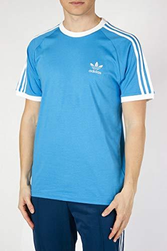 adidas Originals T-Shirt Herren 3-Stripes Tee DZ4587 Blau, Größe:XL Originals 3 Stripes Trefoil