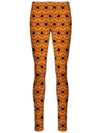 2f9326ac8 Ladies Halloween Scary Pumpkin Spider Jeggings Womens Spooky Cobweb Floral  Skull Fitted Elastic Leggings