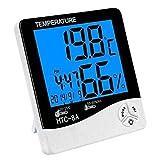 SG-MART Plastic Humidity Meter Alaram Clock for Outdoor Travels,(White & Black)