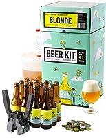 Ce Beer Kit débutant vous permet de brasser votre propre bière blonde à la maison. Le brassage à partir d'extrait de malt en poudre vous permet d'avoir 100% de chance de réussir votre bière et d'entrer dans le monde du brassage en toute tranquilité. ...