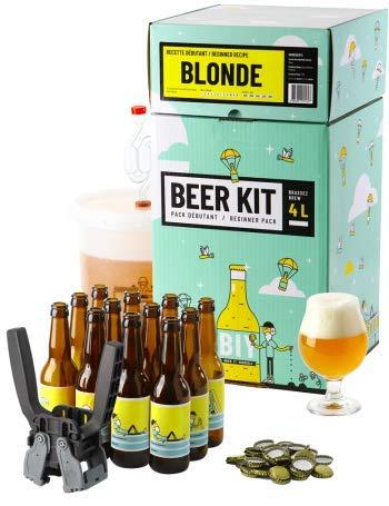 Saveur Bière - Kit de Brassage Débutant Complet, Je Brasse et j'embouteille Une bière Blonde - 4L de Belgian Pale Ale - Idée Cadeau 100% découverte