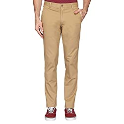LP Louis PhilippeSports Mens Formal Trousers (8907689372676_LYTF1S01452_Beige_Dark Khaki Solid)