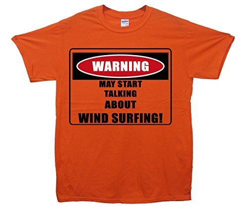 Warning/Surf Vento. Maglietta Orange