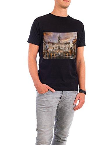 Design T-Shirt Men Continental Cotton Capitoline Hill in Roma black size L - fair & eco-friendly shirt