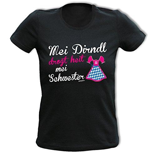 lustiges witziges Damen Girl Fun Shirt Wiesn Oktoberfest Volksfest Goodman Design® Mädchen T-Shirt Geschenk (T Kinder Designs Shirt)