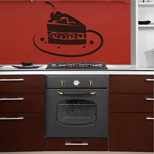 DIY Wasserdichte Schokolade Kuchen Scheibe Auf Platte Wandaufkleber Für Küche Vinyl Wandtattoo Für Esszimmer Dekoration 68x59 cm