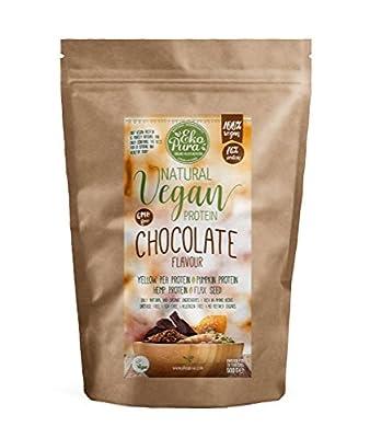 Natural Vegan Protein - Chocolate - 76% Protein, Organic Ingredients, Additive Free - 500g by Ekopura Nutrition