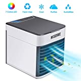 Hisome Air Cooler, 3-in-1 Small Air Conditioner Humidifier Purifier, 3 Fan Speeds 7