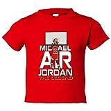 Camiseta niño Michael Air Jordan The Legend leyenda de baloncesto - Rojo, 9-11 años