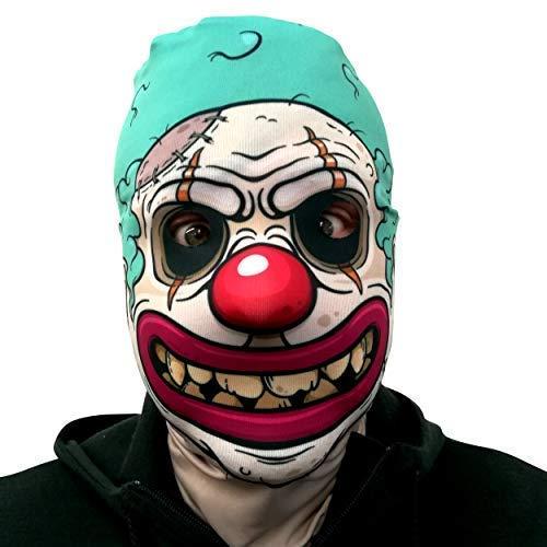 L&S PRINTS FOAM DESIGNS Kreepy Cartoon Clown Design 3D Effekt Gesicht Skin Halloween Sensenmann Hergestellt in Yorkshire