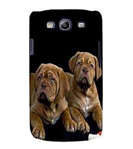 printtech Cute Dogs Couple Back Case Cover for Samsung Galaxy S3 Neo / Samsung Galaxy S3 Neo i9300i