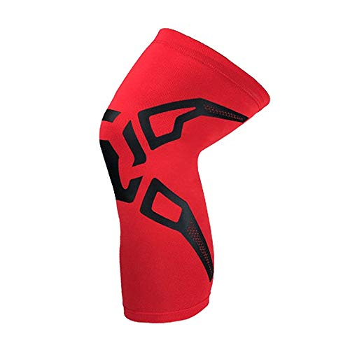 Knee Support Compression Sleeve Knee Braces Elastic Knee Pads for Workouts Red L