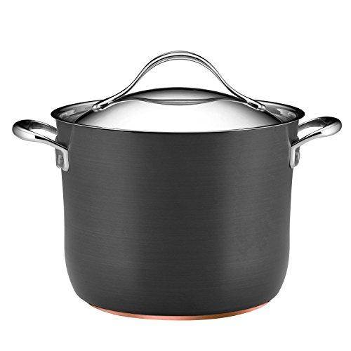 Anolon Nouvelle Copper Nonstick 8-Quart Covered Stockpot, Dark Gray Anolon Non Stick Pan