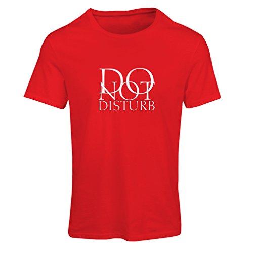 Lepni.me maglietta donna non disturbare - citazioni divertenti - regalo (small rosso bianco)