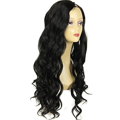 Upart ondulado peluca color peluca pelo # parte izquierda