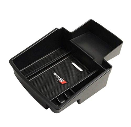 ICT RONIX per Audi Q52008-Scatola portaoggetti 2014stoccaggio bracciolo console centrale vassoio vano portaoggetti secondario memoria