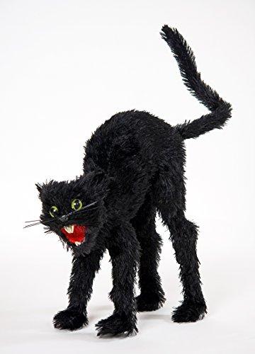atze Halloween Hexe Hexenzubehör Deko ca. 34cm groß Katzenschreck (Schwarze Katze Halloween)