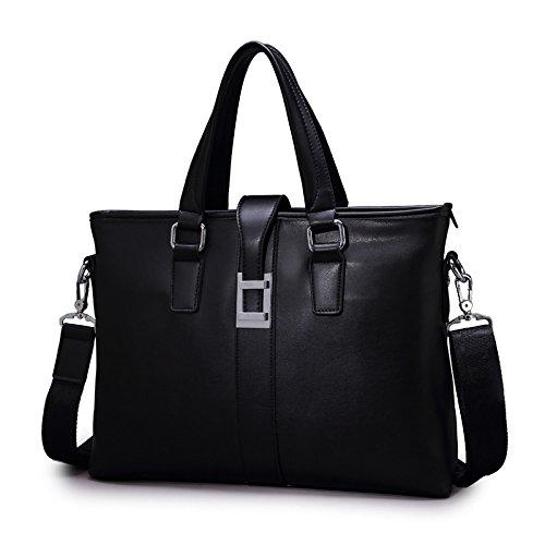 Mefly Männer Datei Business Tasche Handtasche Schultertasche Schultertasche Black