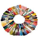 *Versand aus Deutschland*50 Docken Sticktwist Stickgarn 8m 6-fädig Multicolor farblich bunt