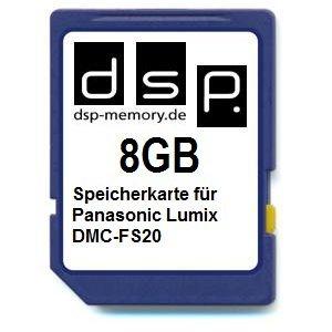 DSP Memory Z-4051557407480 8GB Speicherkarte für Panasonic Lumix DMC-FS20 (Card-panasonic Memory Lumix)