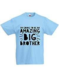 Rock Paper Sisters Boy's Slogan T-shirt: I'm Going To Be An Amazing Big Brother