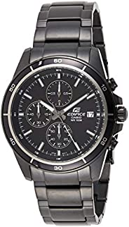 Casio Edifice Men's Black Dial Ion Plated Stainless Steel Watch - EFR-526BK-
