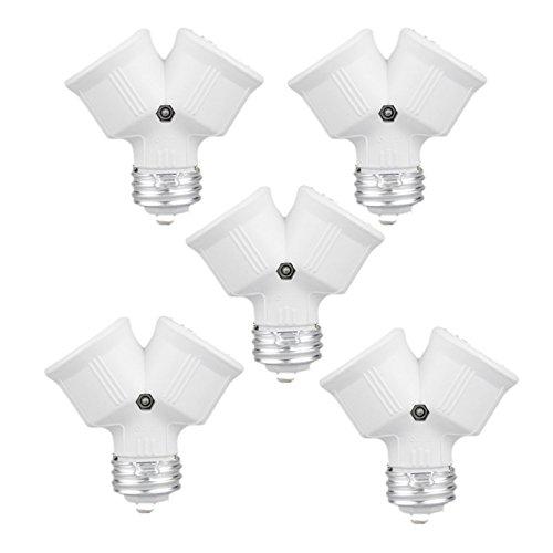 TOOGOO (R) 5 x Doppellampen Adapter LED-Lampe E27 Fassungen