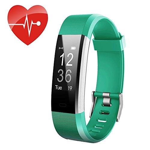 ID115Plus HR Fitness Tracker, Miya Multifunktions-Aktivitätstracker mit Herzfrequenzmesser, IP67 Wasserdichtes Smart Armband, Schritt-Pedometer für Kinder, Frauen und Männer.(Grün)