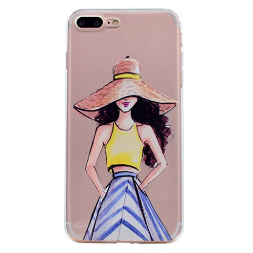 Per iPhone 7 Plus Cover , YIGA amicizia ragazza Sottile Cristallo Chiaro Case Trasparente Silicone Morbido TPU Custodia per Apple iPhone 7 Plus (5.5) TT18