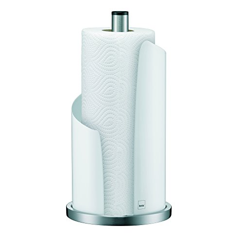 Kela 11201 Küchenrollenhalter, 15 cm Durchmesser, Edelstahl/Metall, Stella, Weiß